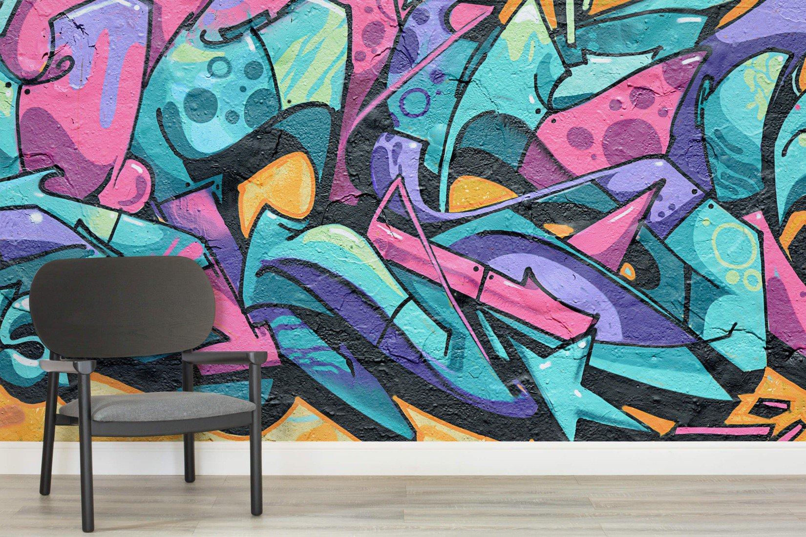 MuralsWallpaper_1604995_Complex Graffiti Wall Mural