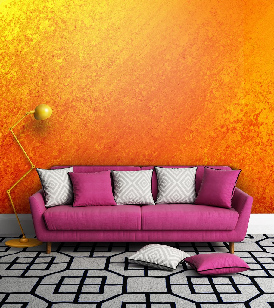 Orange & Gold wall mural