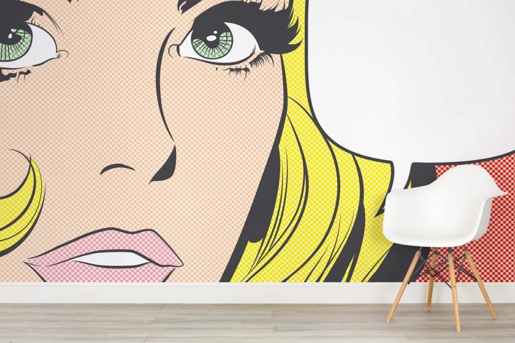 7. MuralsWallpaper_1605379_PopArtWomanWallMural.jpg