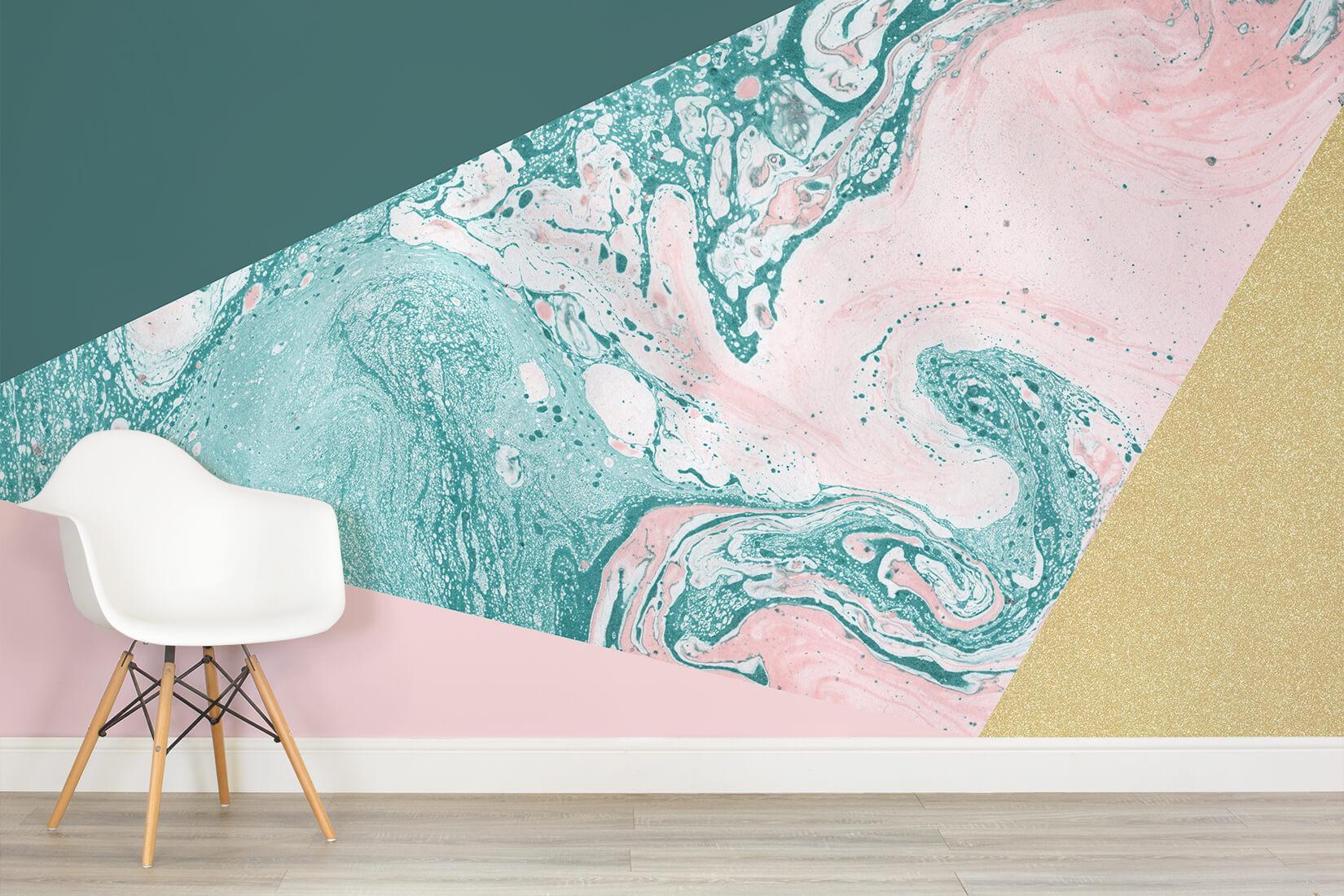 Marble Glitter Geometric Wall Mural