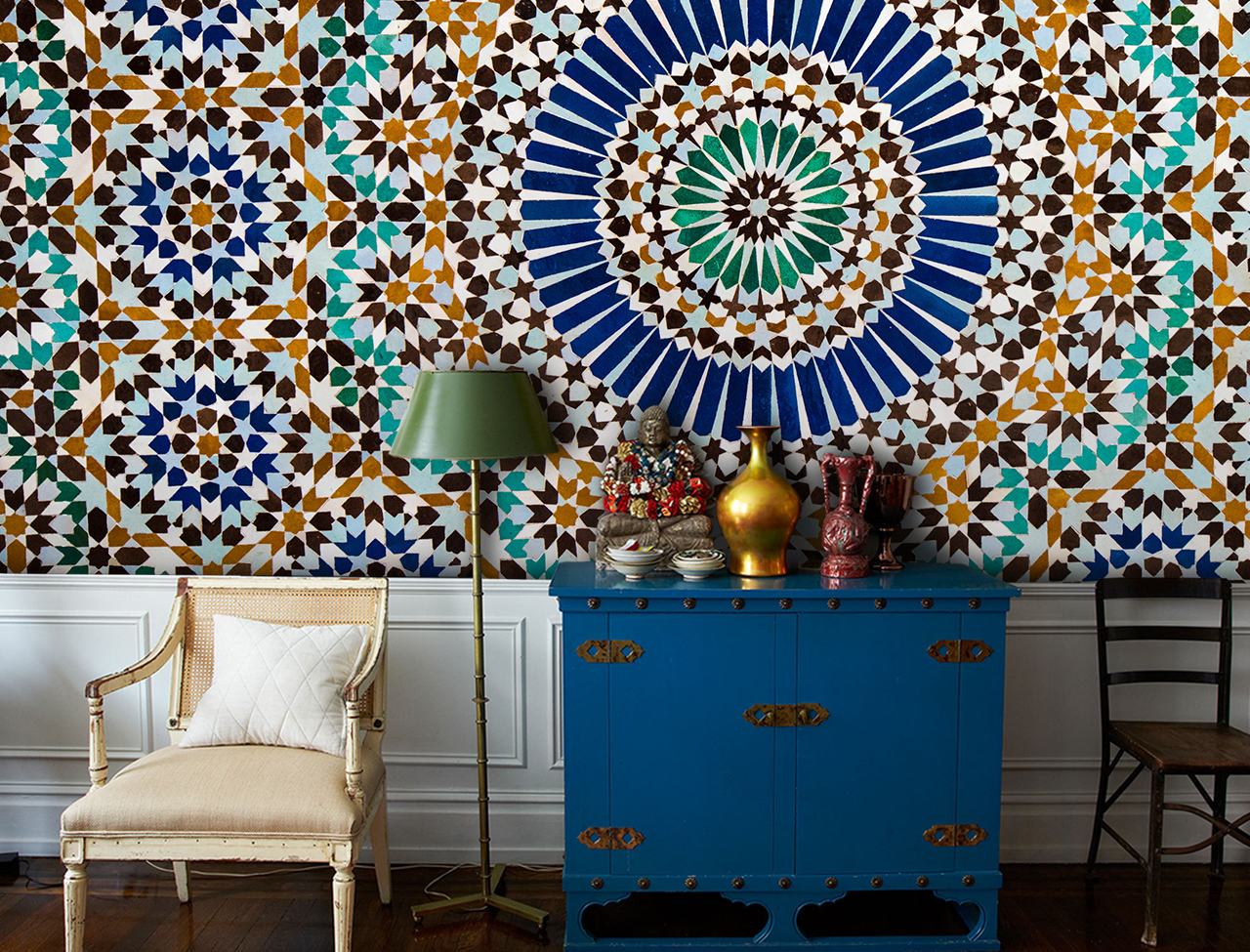 Vintage Moroccan Tiles Wall Mural