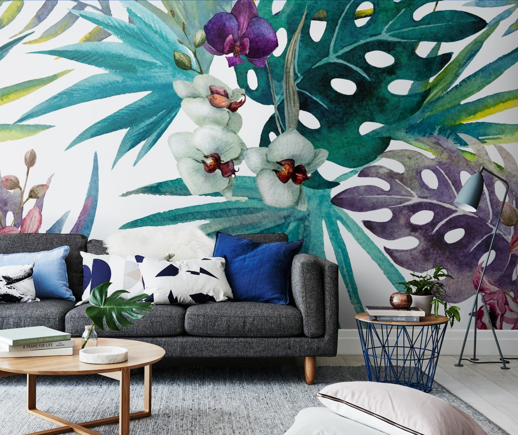 Botany in living room Wall Mural