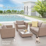 Mix and match: outdoor wicker furniture