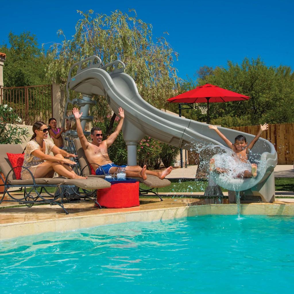 aqua action pool slide