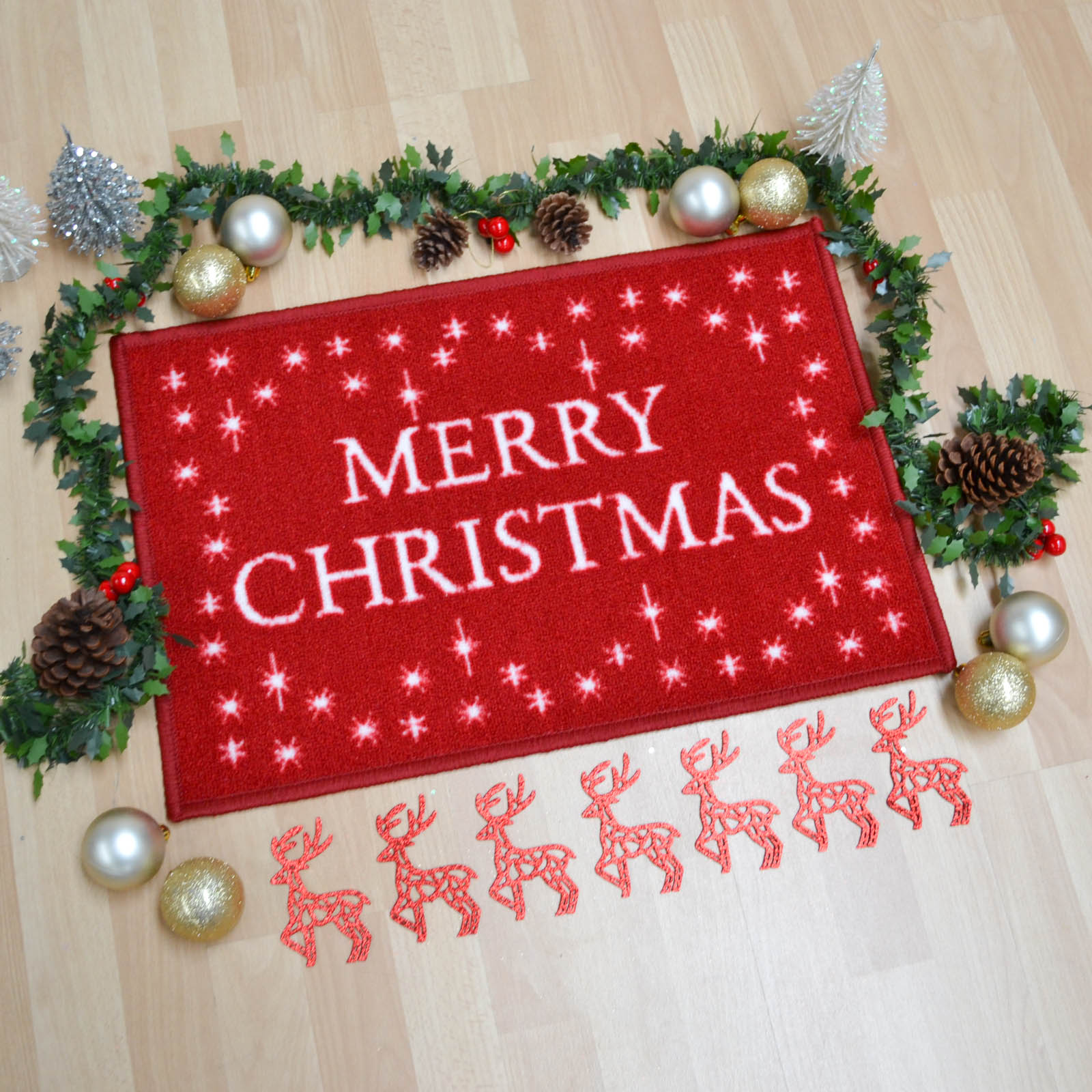 Homeswares Merry Christmas Festive Mat