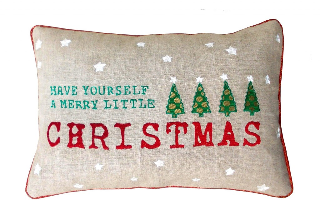 Homewares Christmas Tree Linen Cushion Cover