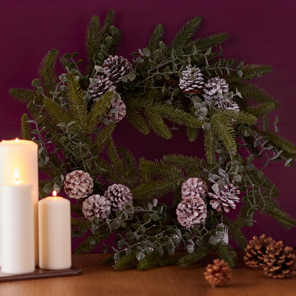 Homewares Eucalyptus Cone Christmas Wreath