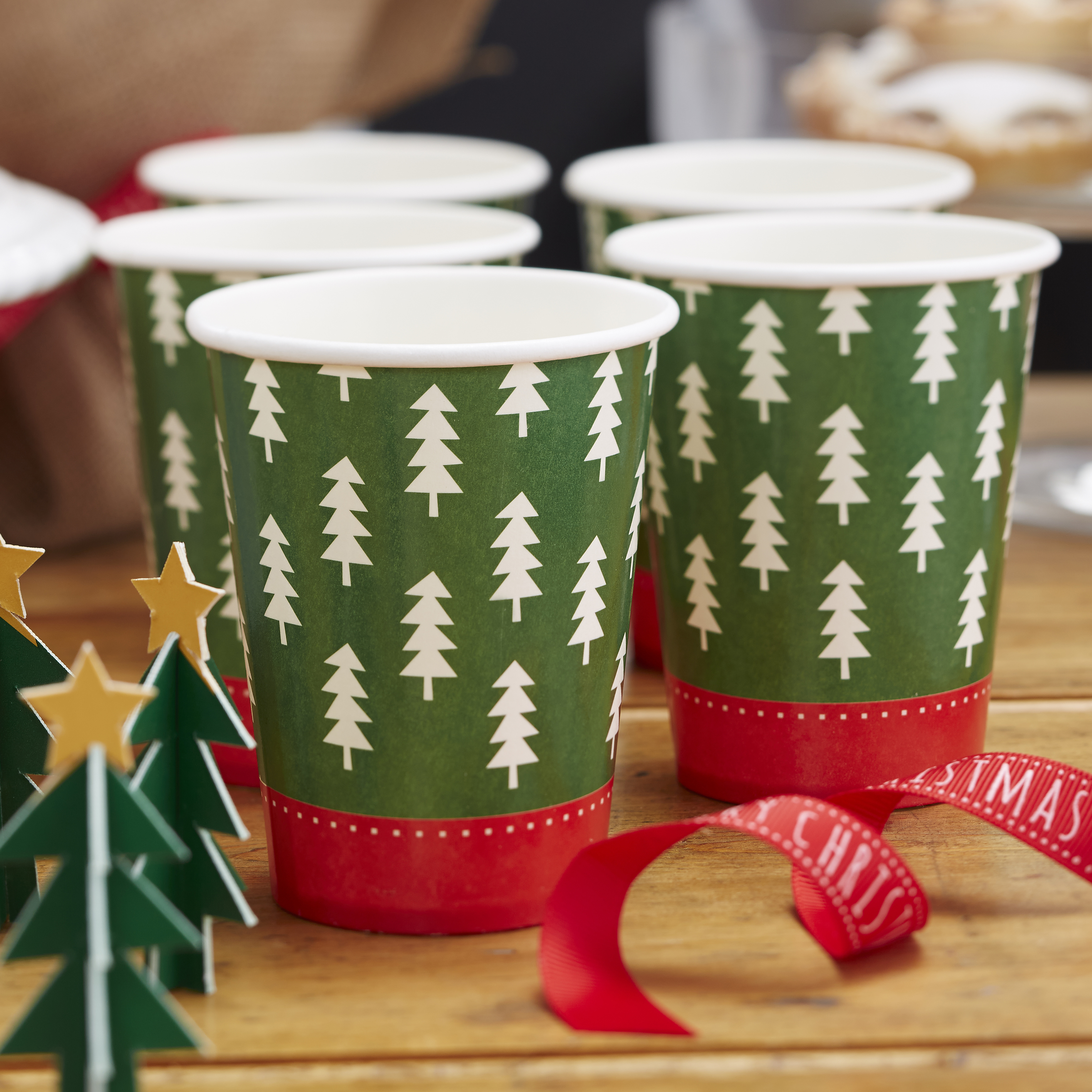 Christmas Tree Pattern Paper Cups