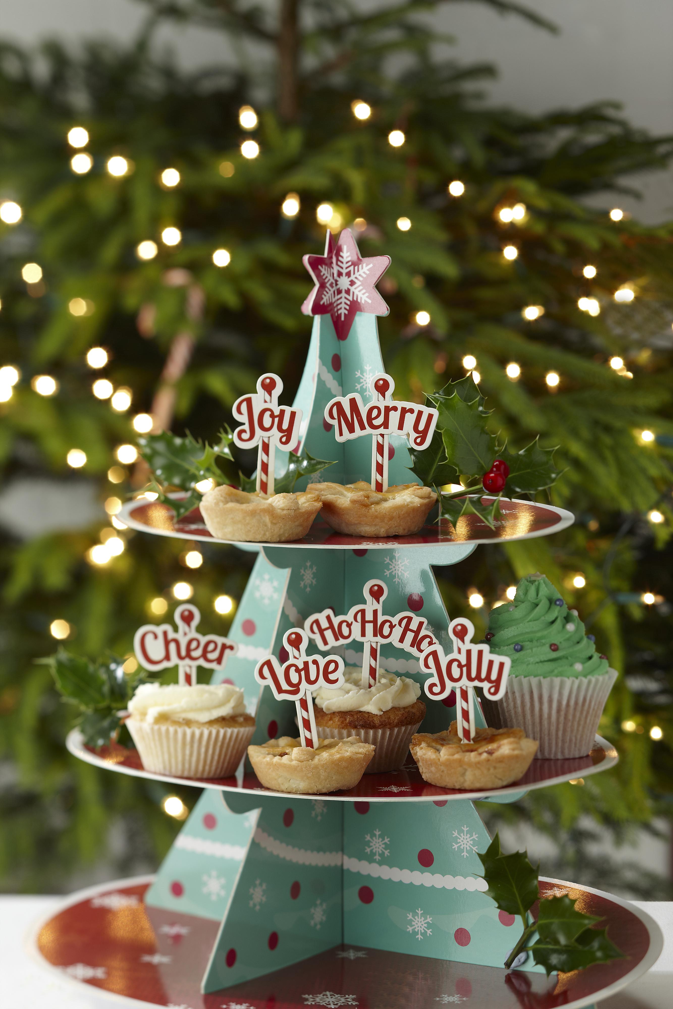 Christmas Cheer Mince Pie Cupcake Sticks