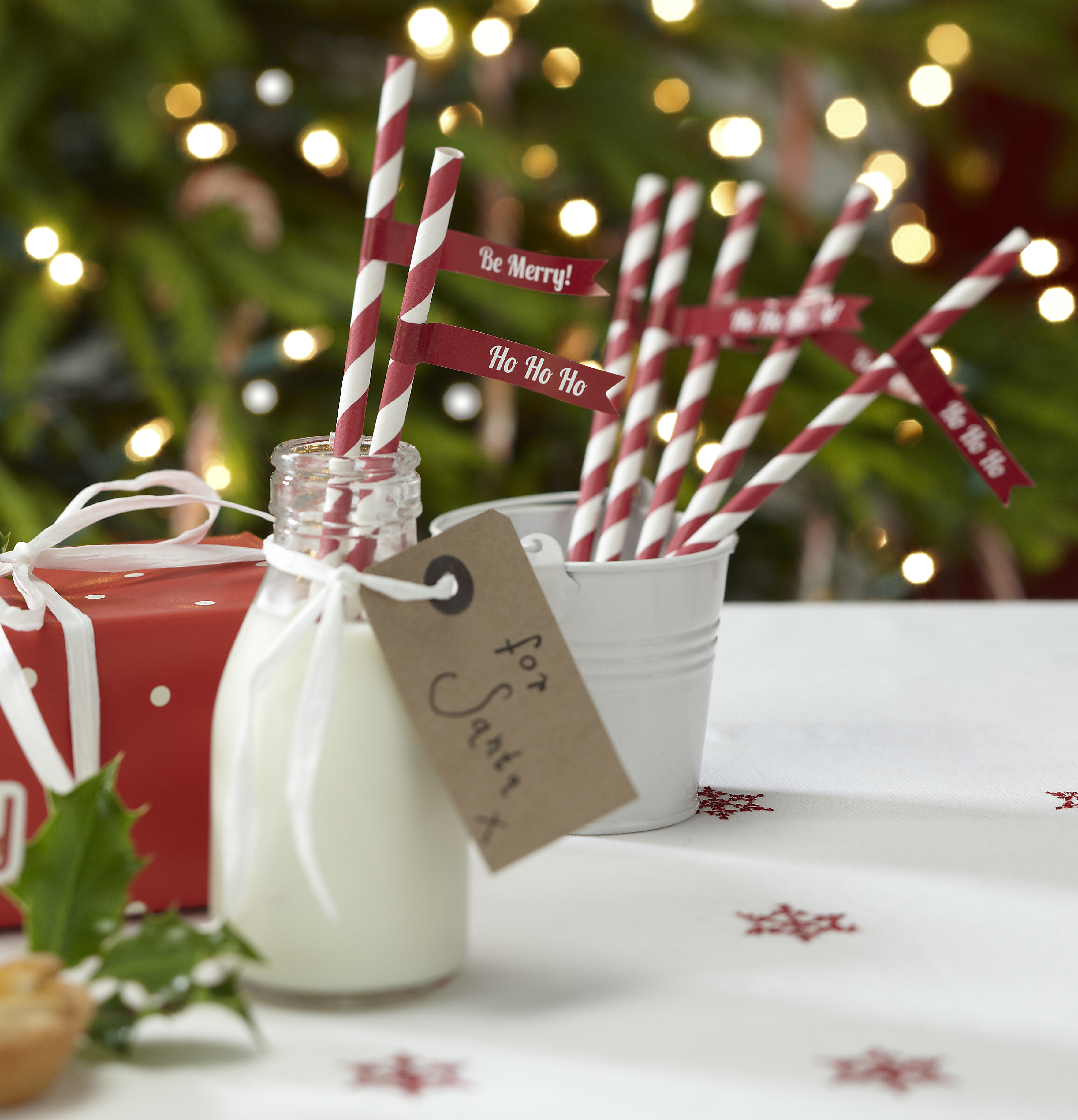 Christmas Vintage Candy Cane Paper Straws