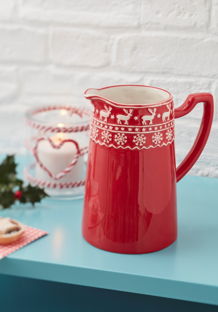 Nordic Red Christmas Serving Jug
