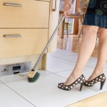 Sweep the day away: kitchen cleaning gadget