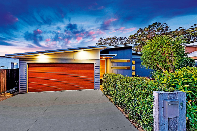 modern home's garage
