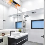 Monochromatic makeover: a modern bathroom