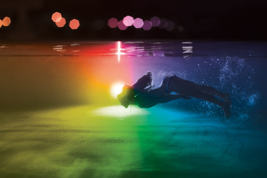 A world of colour: pool lighting