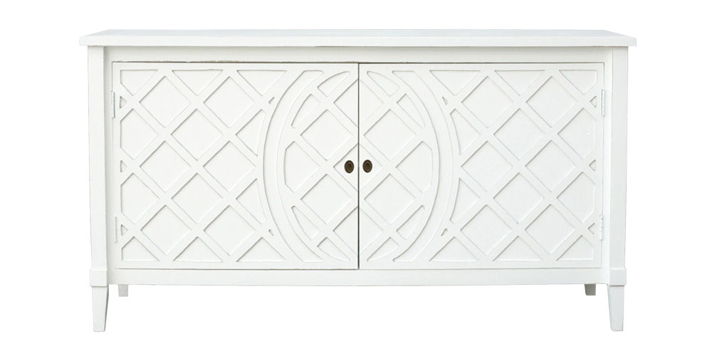 Hamptons Style - White Rodin Lattice Buffet