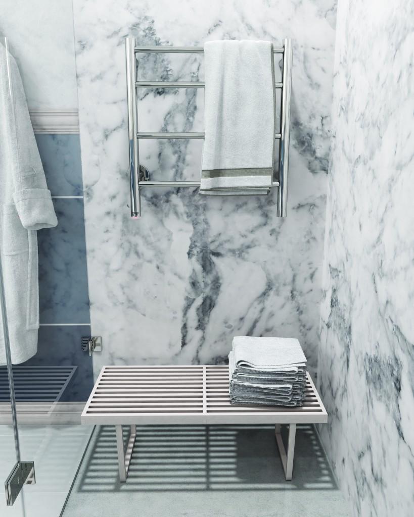 Bathe heated towel rail