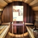 The hot seat: Ukko's Cedar barrel sauna