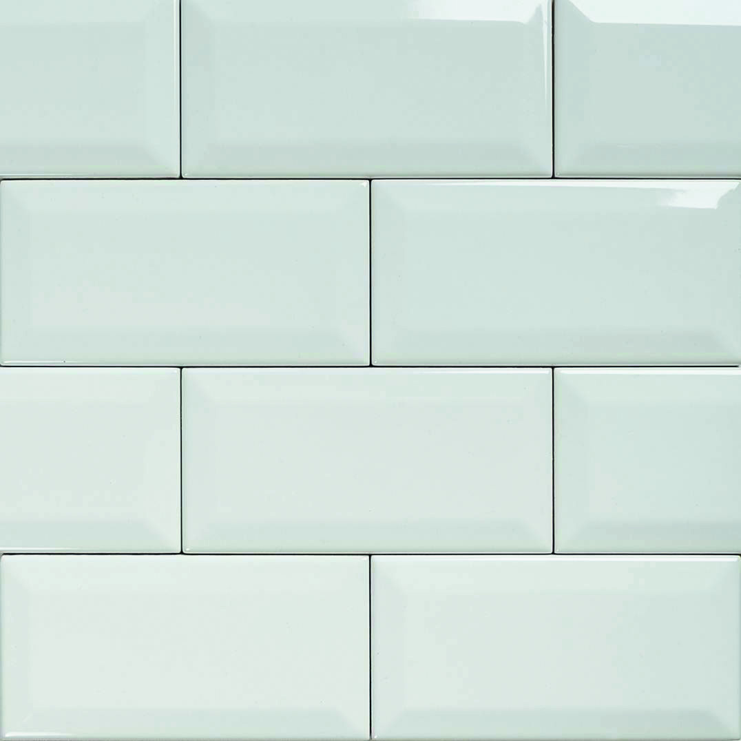 White glazed subway tile