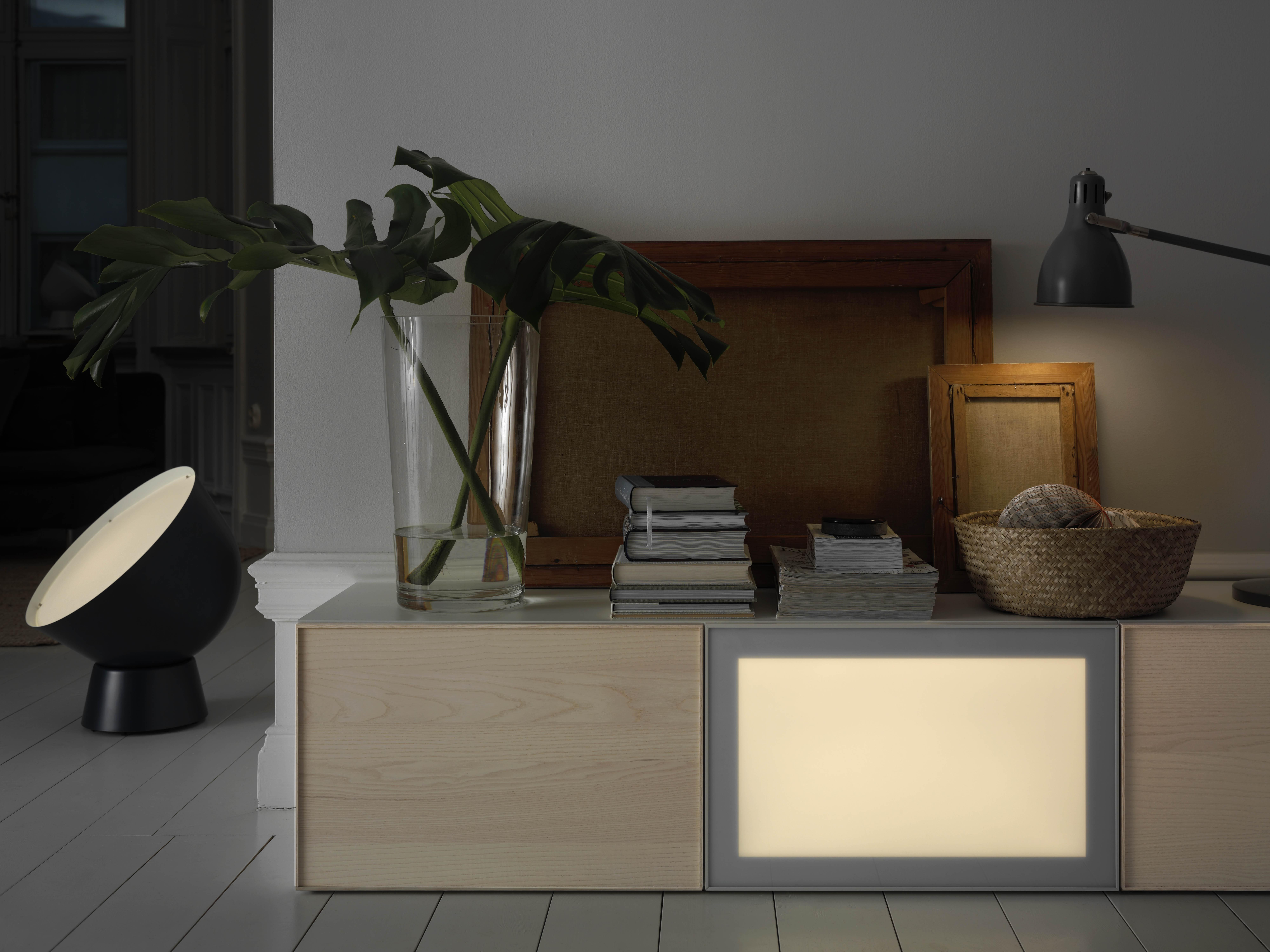 SURTE LED light door, with wireless control, 60x38, white spectrum - IKEA