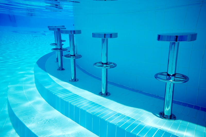 Stainless Steel Underwater Pool Bar Stools Completehome