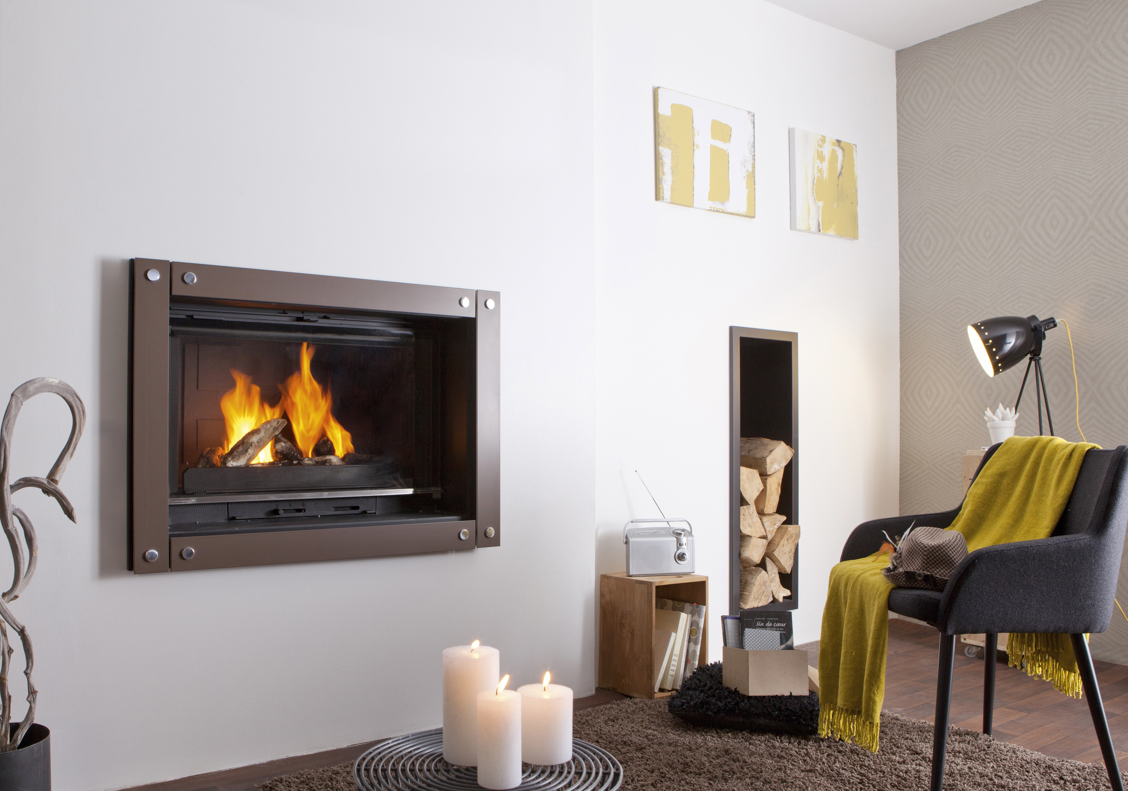 Cheminees Philippe: the best of both heating worlds - fireplace