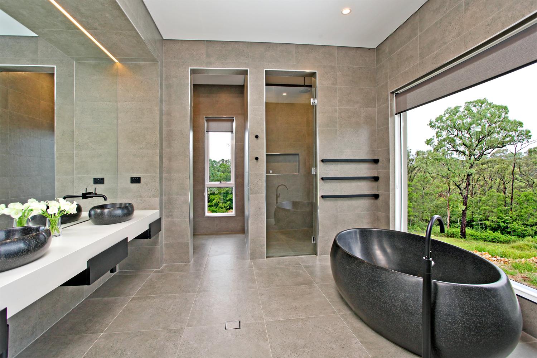 'One of a kind': a custom family home - bathroom freestanding bathtub