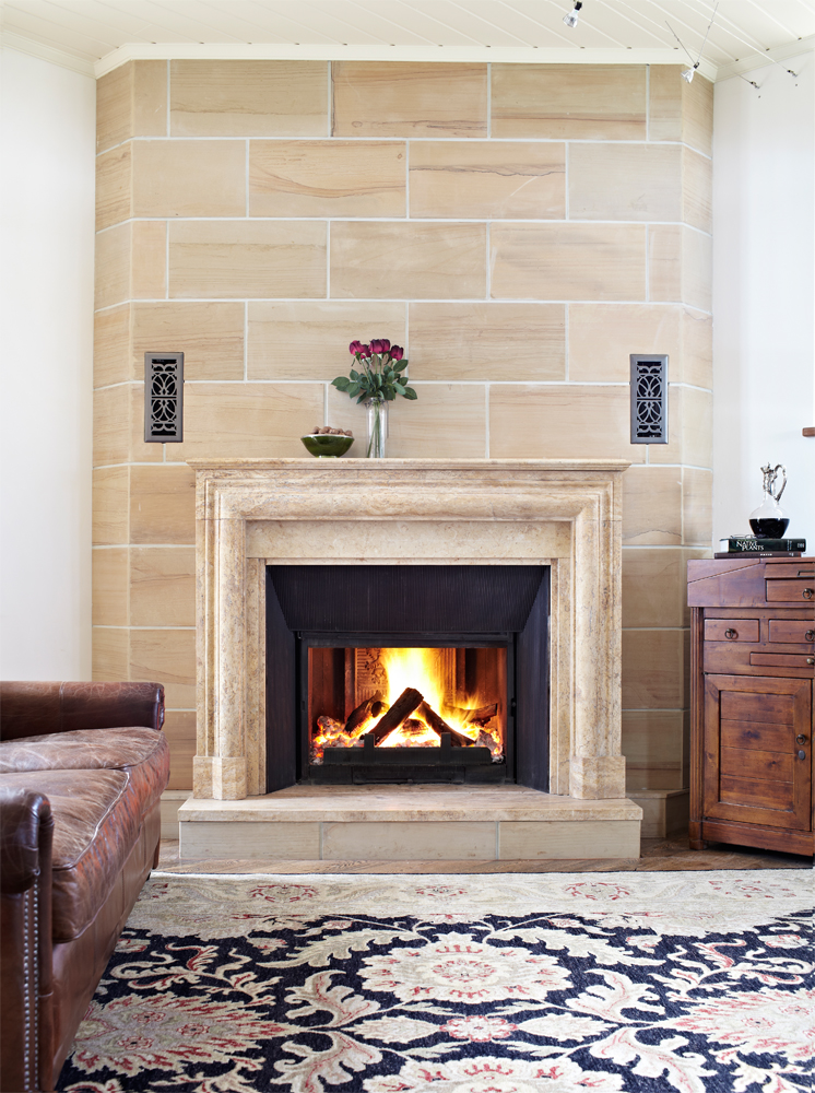 Bolection marble fireplace: a marriage made in heaven