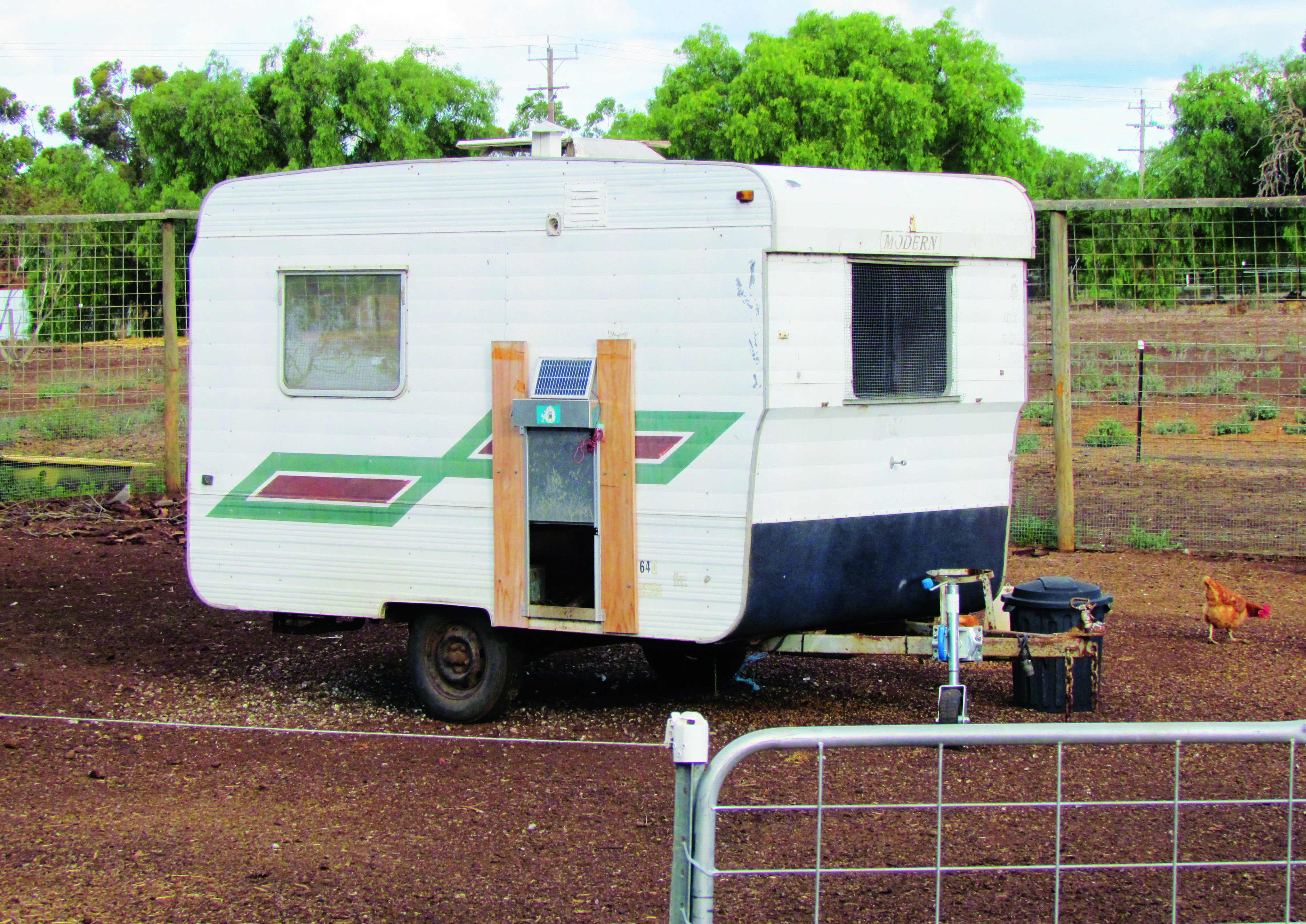 Choosing the right home for your chickens - old caravan henhouse