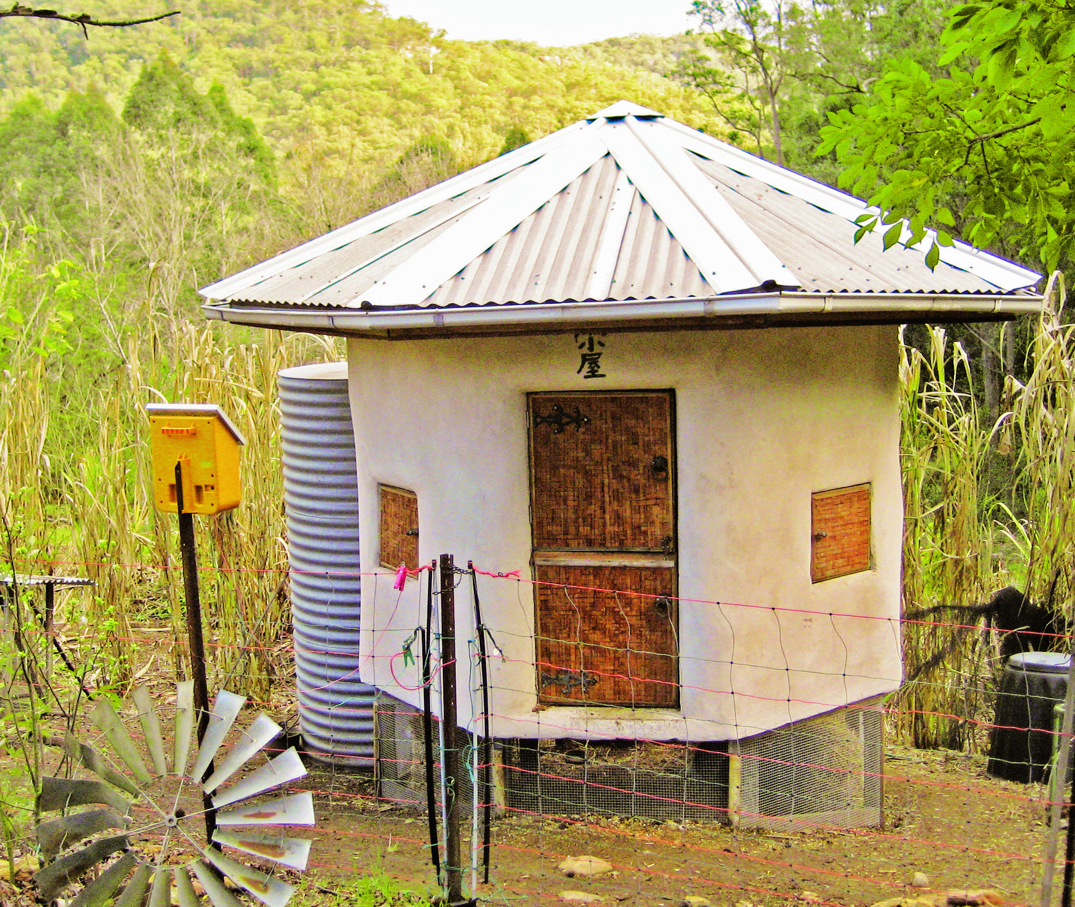 Choosing the right home for your chickens - chook yurt without ventilation