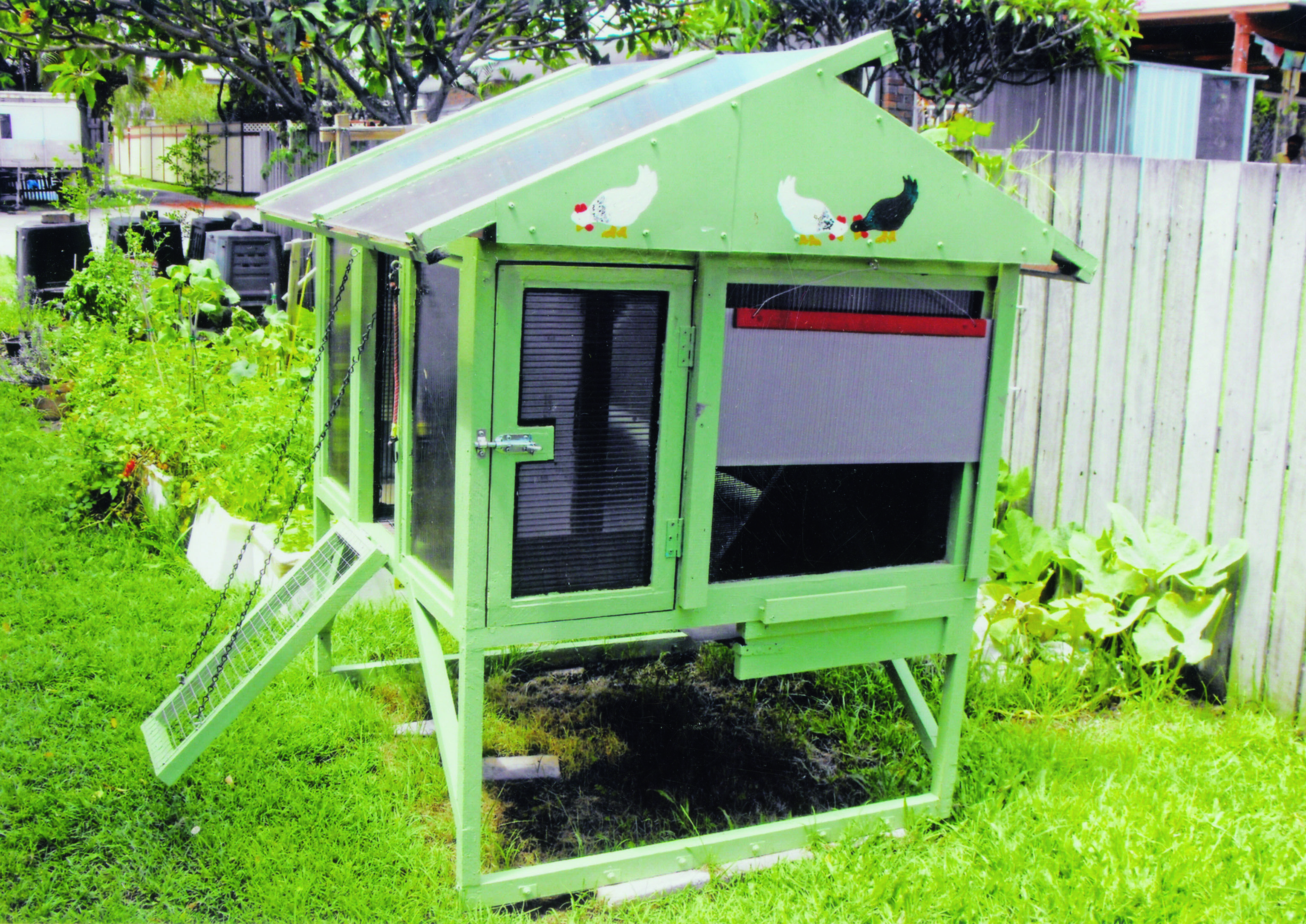 Choosing the right home for your chickens - henhouse with spot for dust bathing