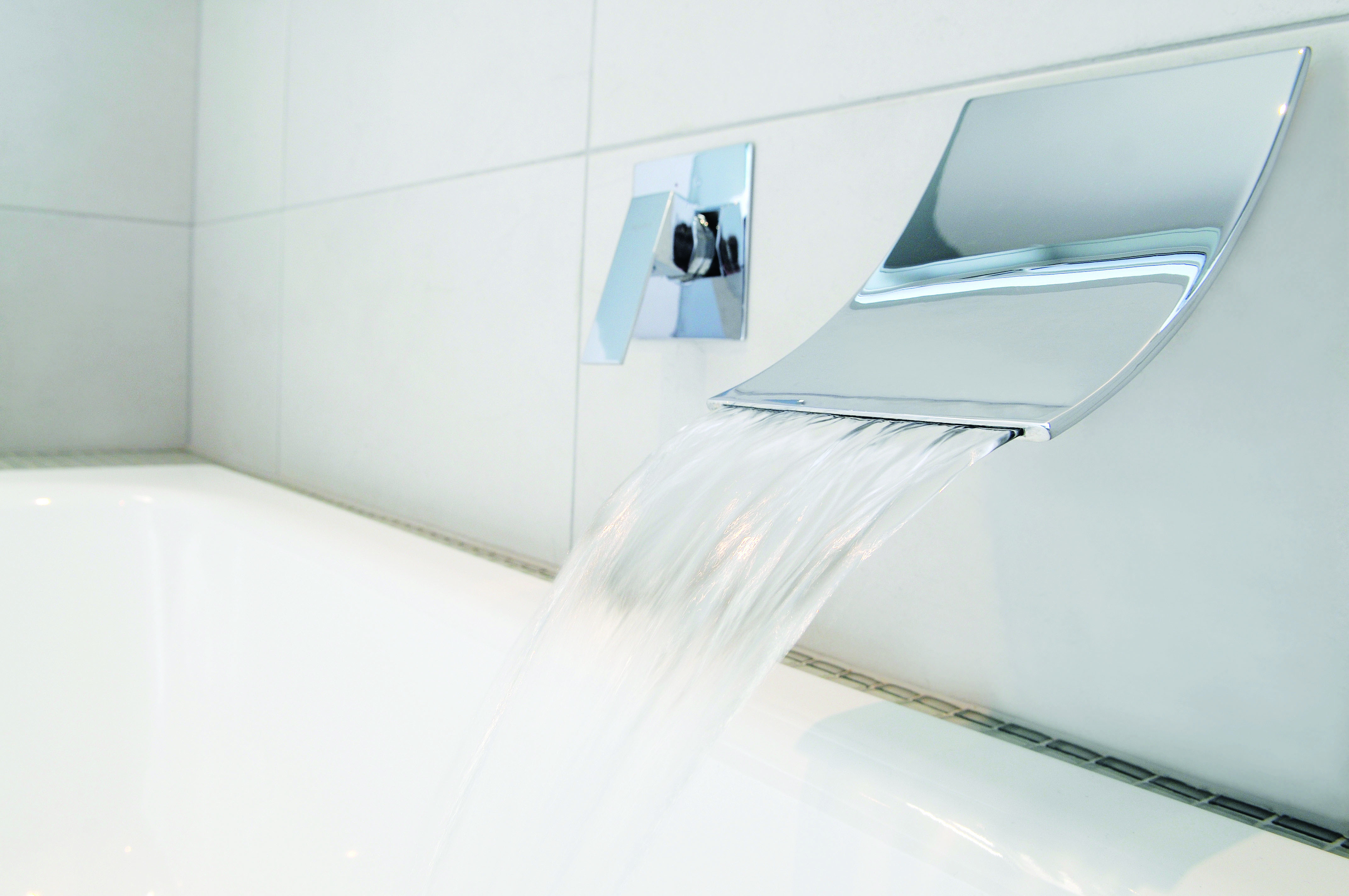 4 baths to help you recreate day spa ambience at home - Oblio waterfall bath spout