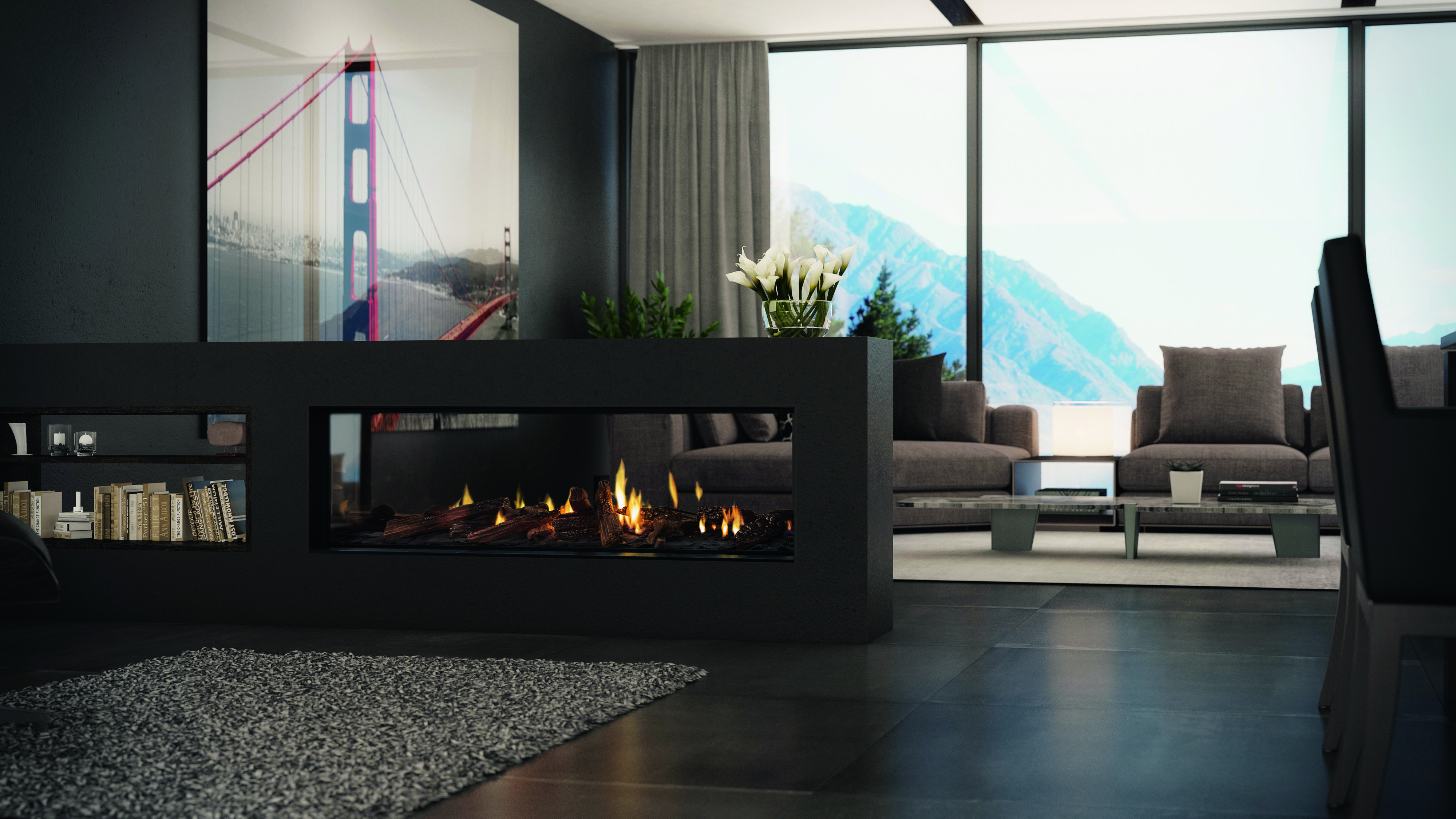Big look, small footprint: the 'anywhere' frameless gas fireplace