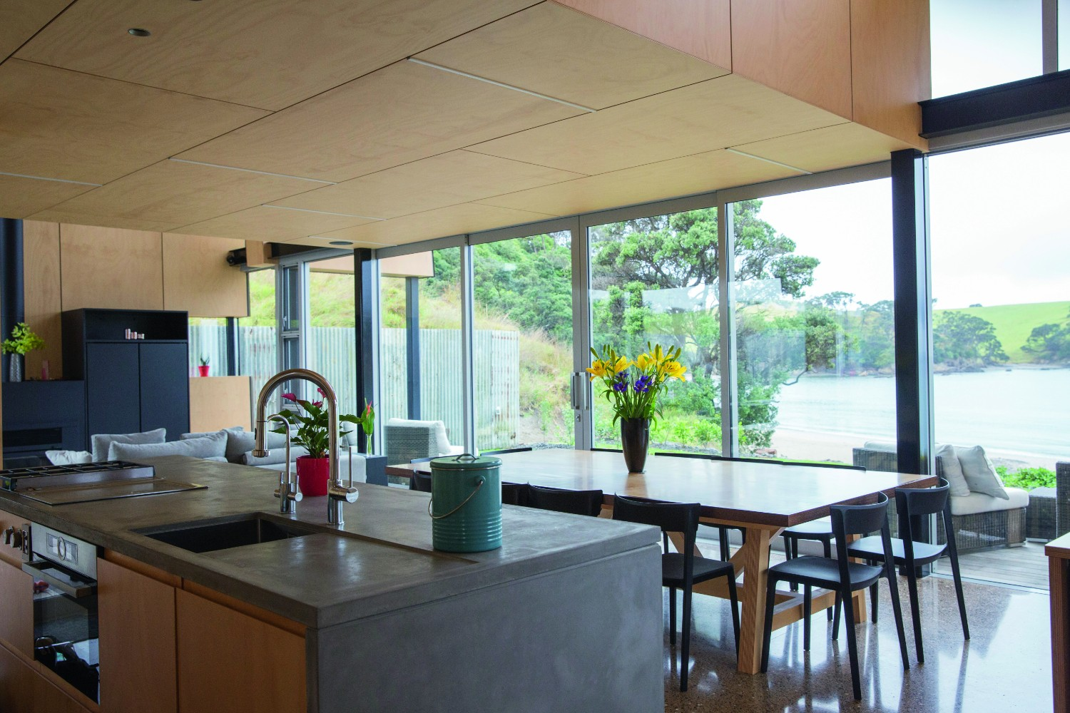 Grand Designs Australia: Rusty reveal - modern bach house - interior kitchen