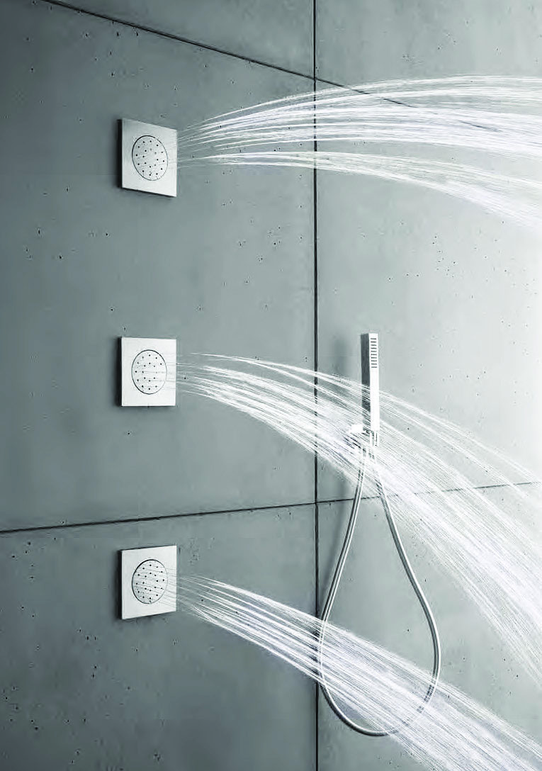 Geyser: a home-spa shower experience - three shower jets