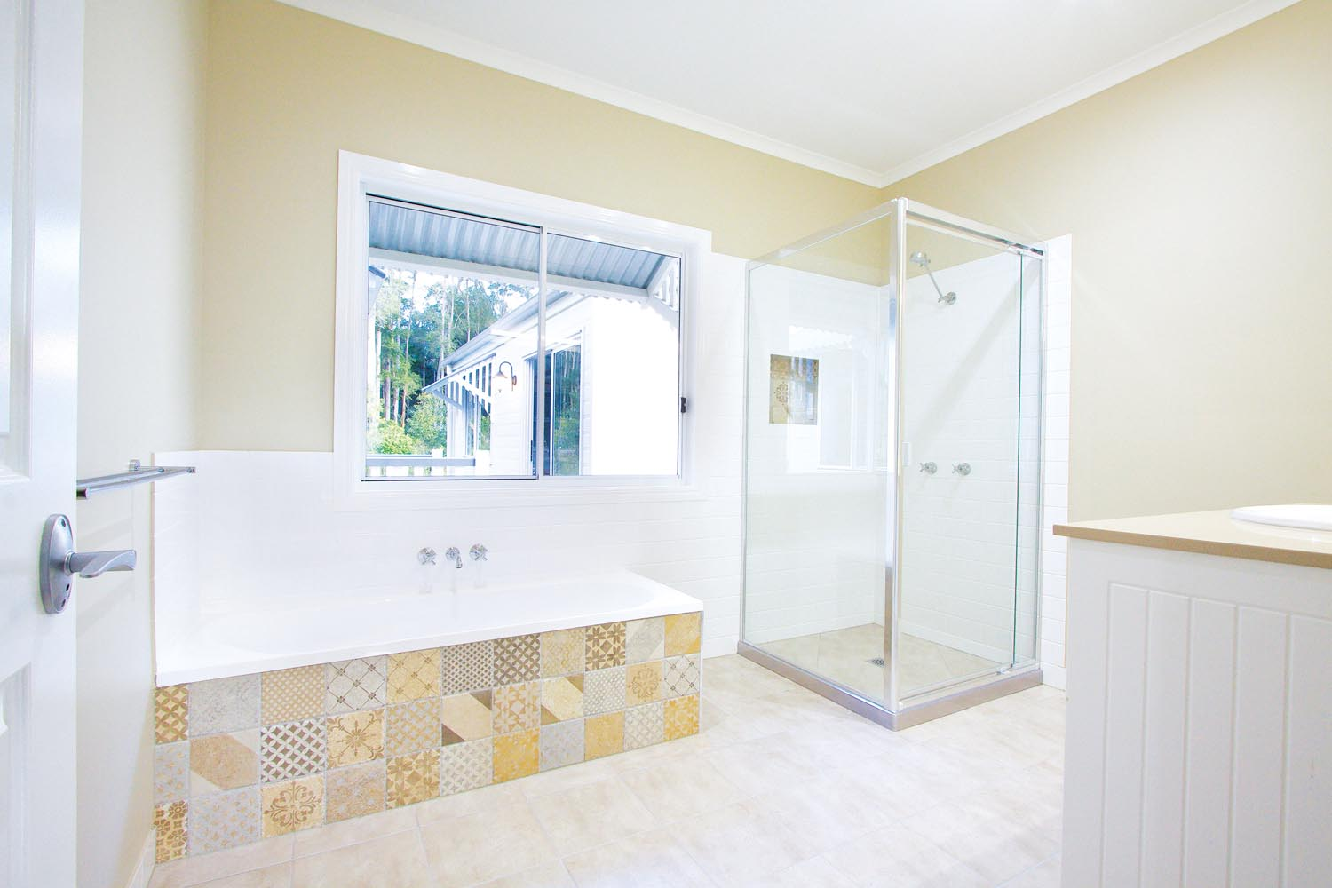 More for less: a classic Queenslander home - full view of bathroom