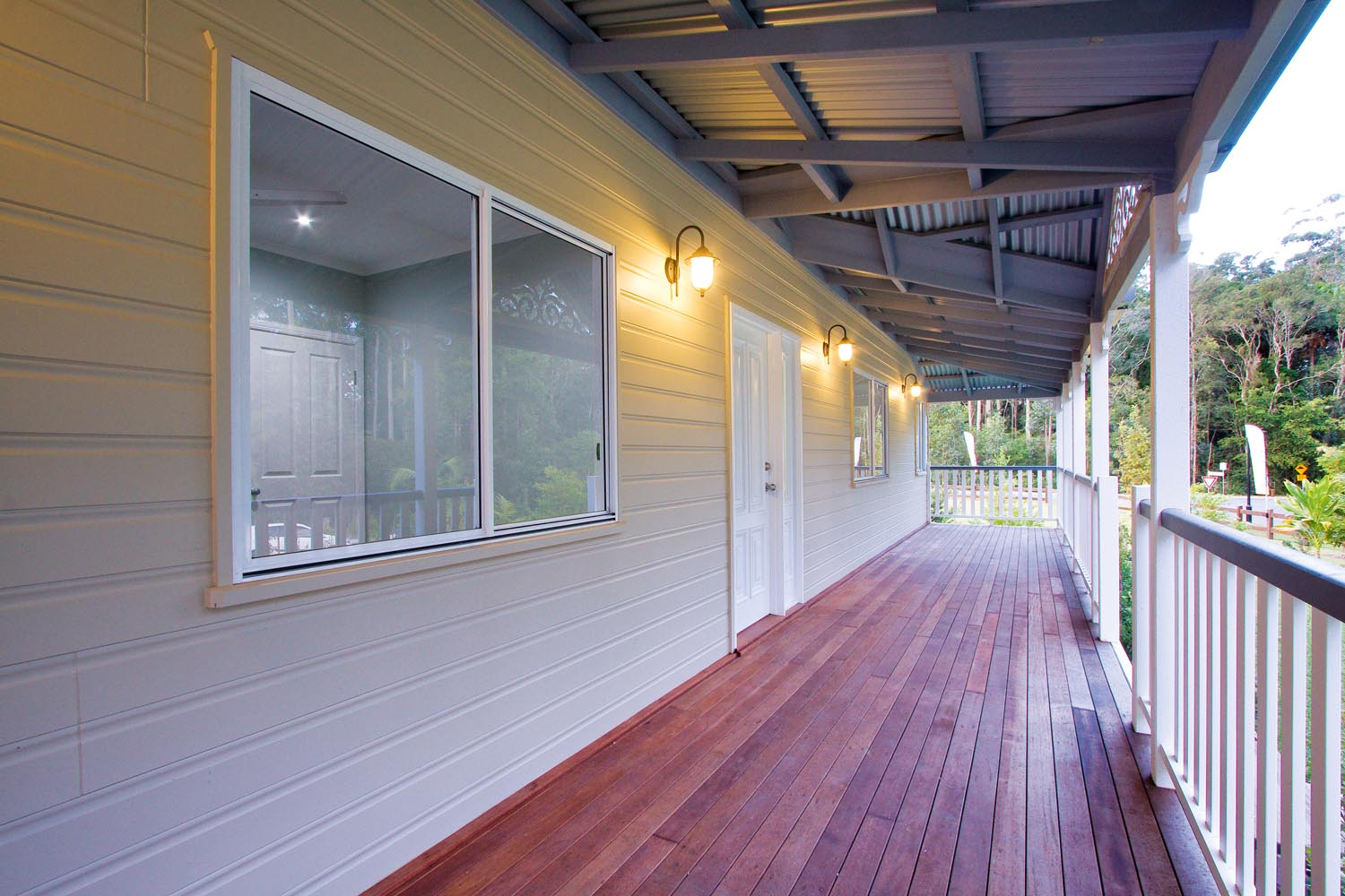 More for less: a classic Queenslander home - verandah outside house
