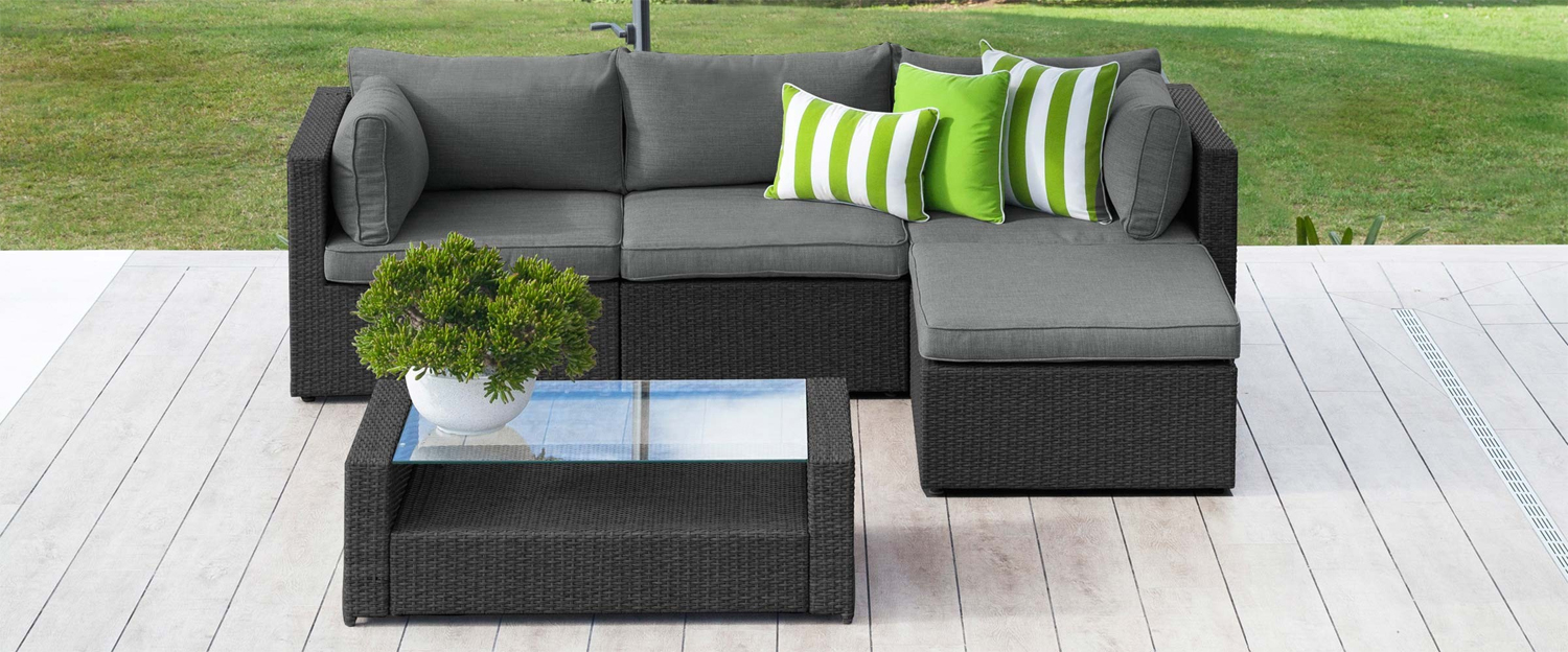Black wicker: get inspired by these outdoor living ideas - Moto modular