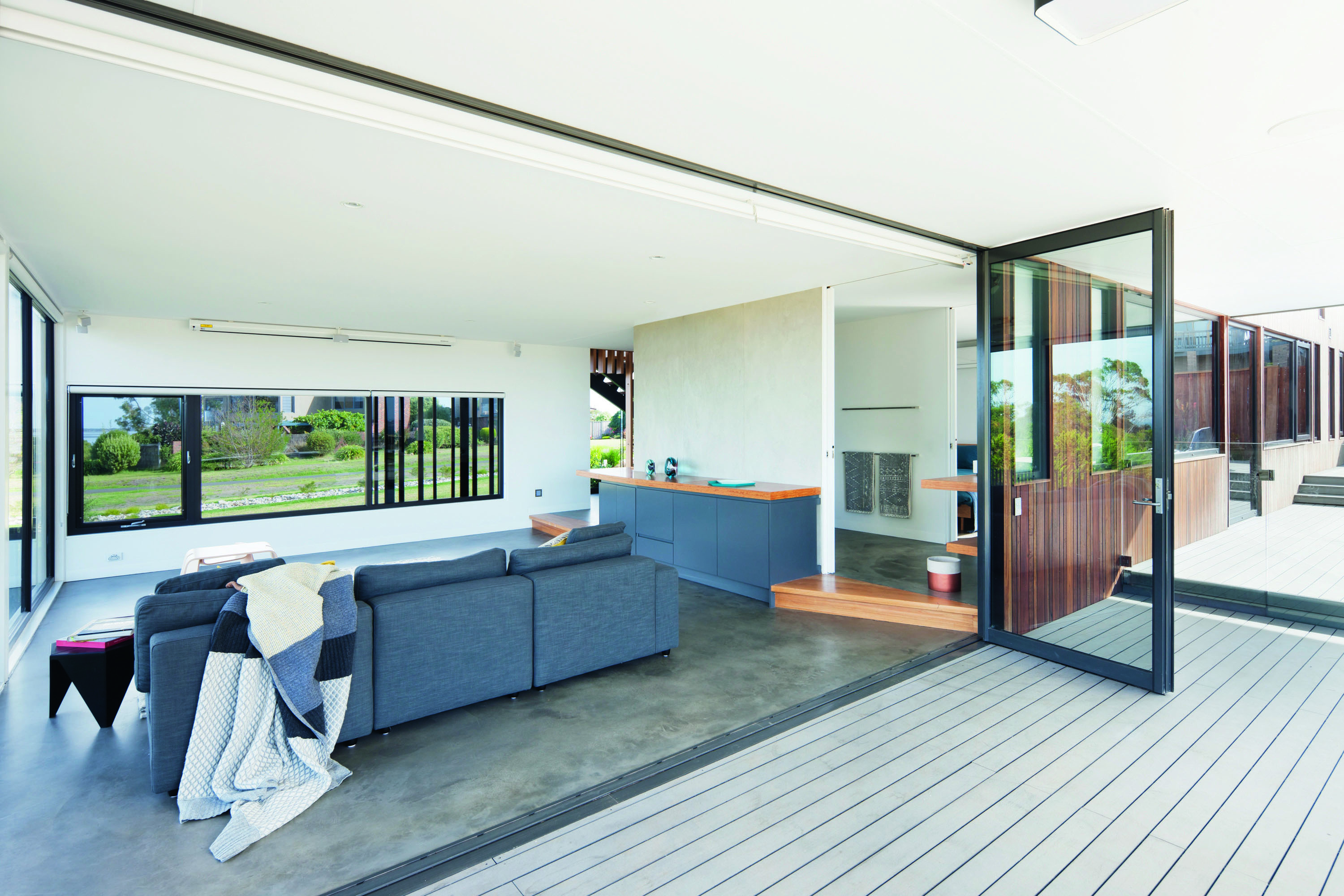 Grand Designs Australia: Black Box - the open plan nature of the house beckons the outdoors in