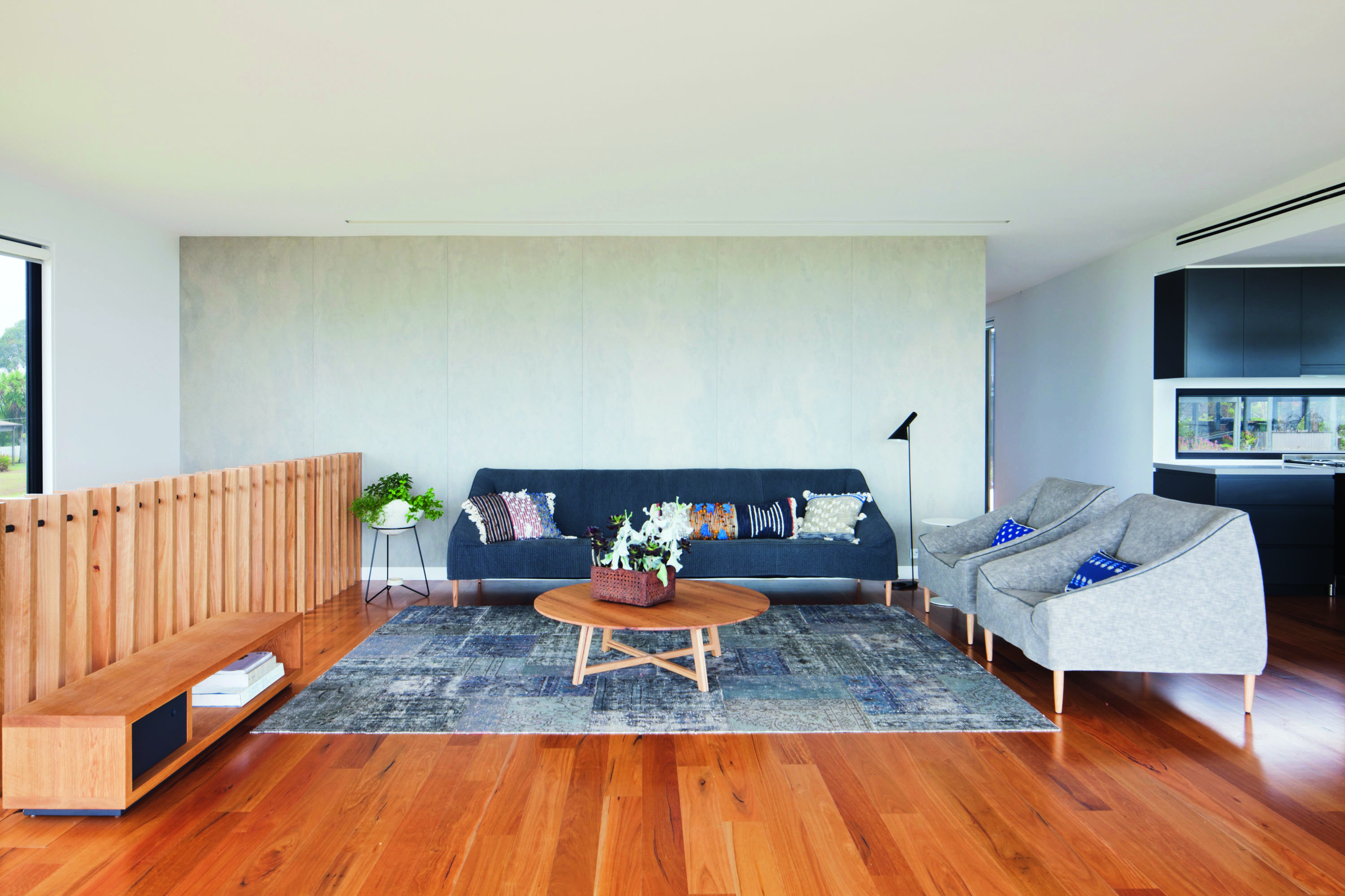 Grand Designs Australia: Black Box - the Rhyll House - living room
