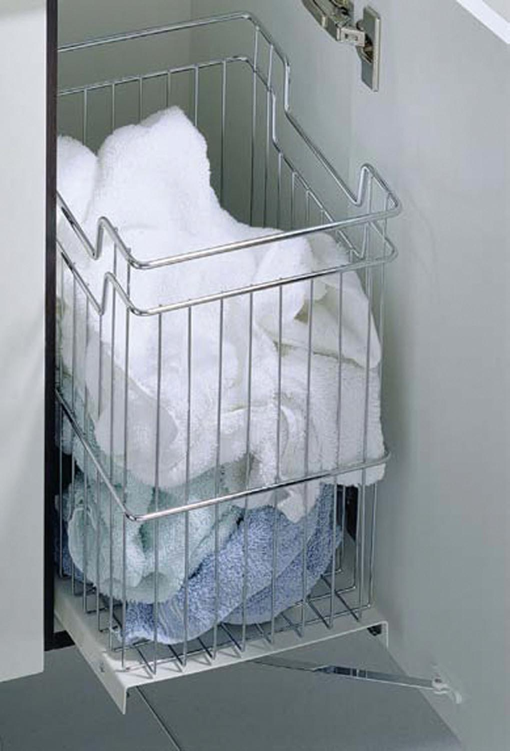 Sorted: 5 easy ways to sort your laundry storage - tidy Hettich basket