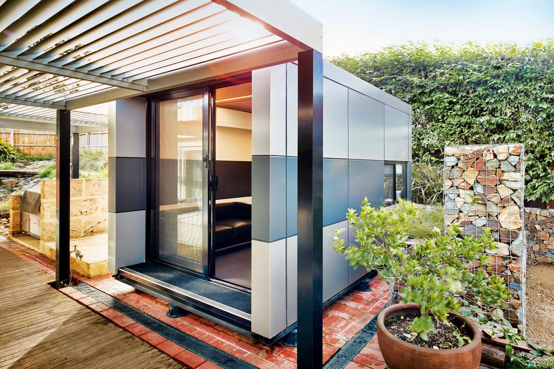 Office, studio or living room? Look to your garden - Harwyn pod outdoor room in backyard