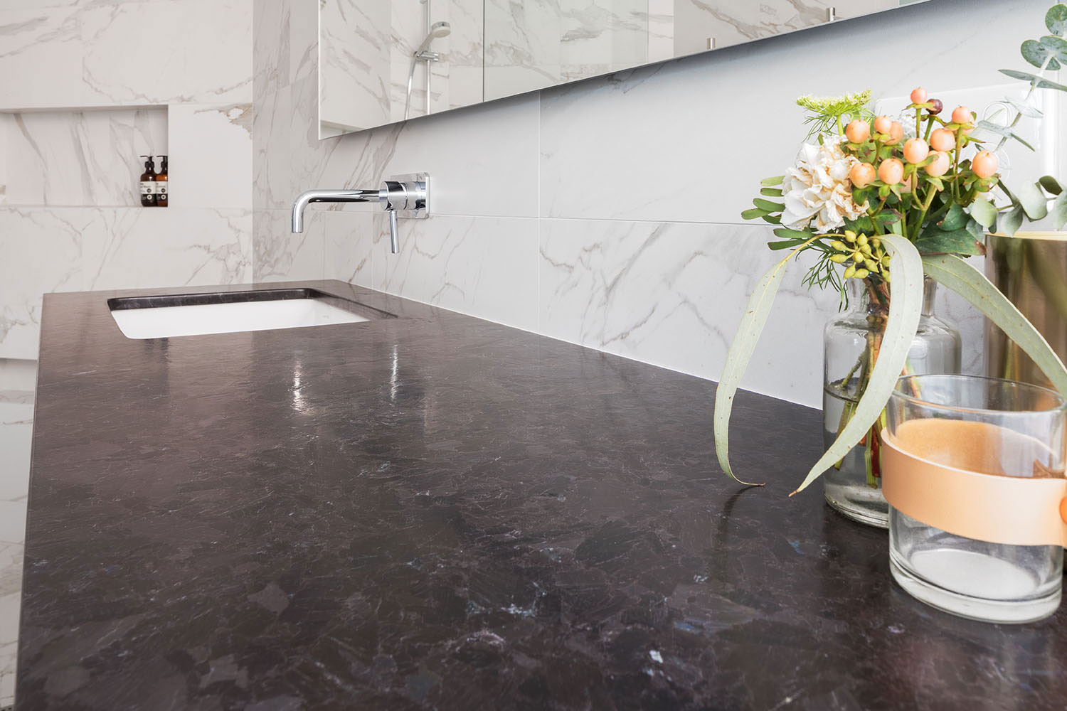 Spacious marble: an ensuite retreat