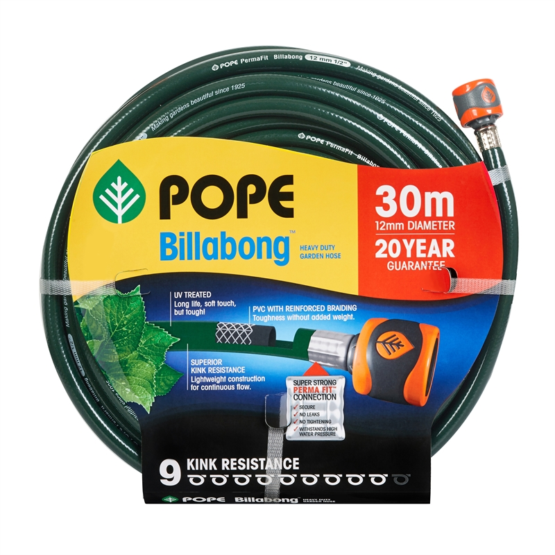 Pope 12mm x 30m Fitted Billabong Garden Hose