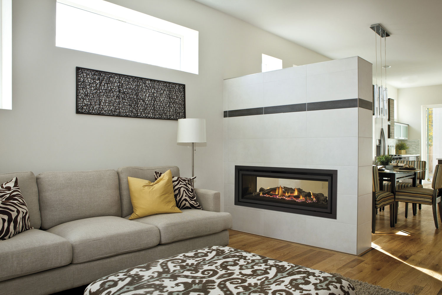 double sided fireplaces two sides endless benefits completehome