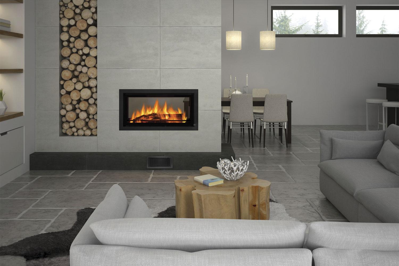 Double Sided Fireplaces Indoor Outdoor Hearthroom Wood