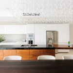 Narrow kitchen, panoramic view: a western design