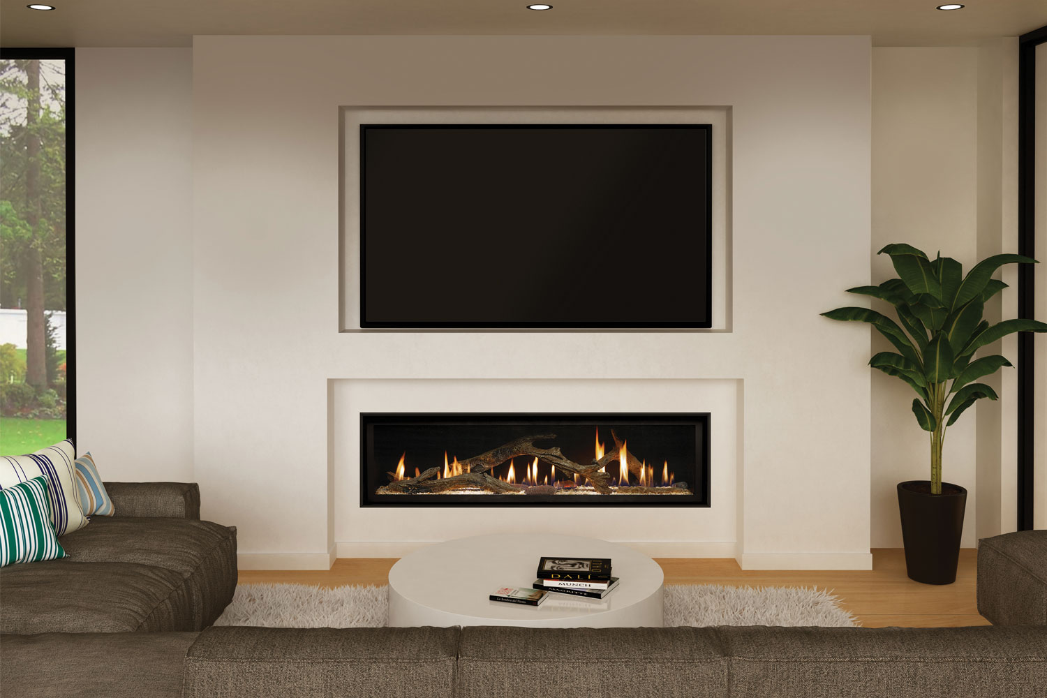 The Linear Look Custom Fireplaces Completehome