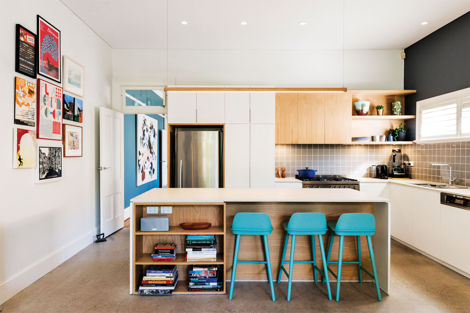 9 quality kitchen designs: 6. Cool and colourful