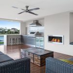 On the riverfront: a gorgeous coastal outdoor kitchen